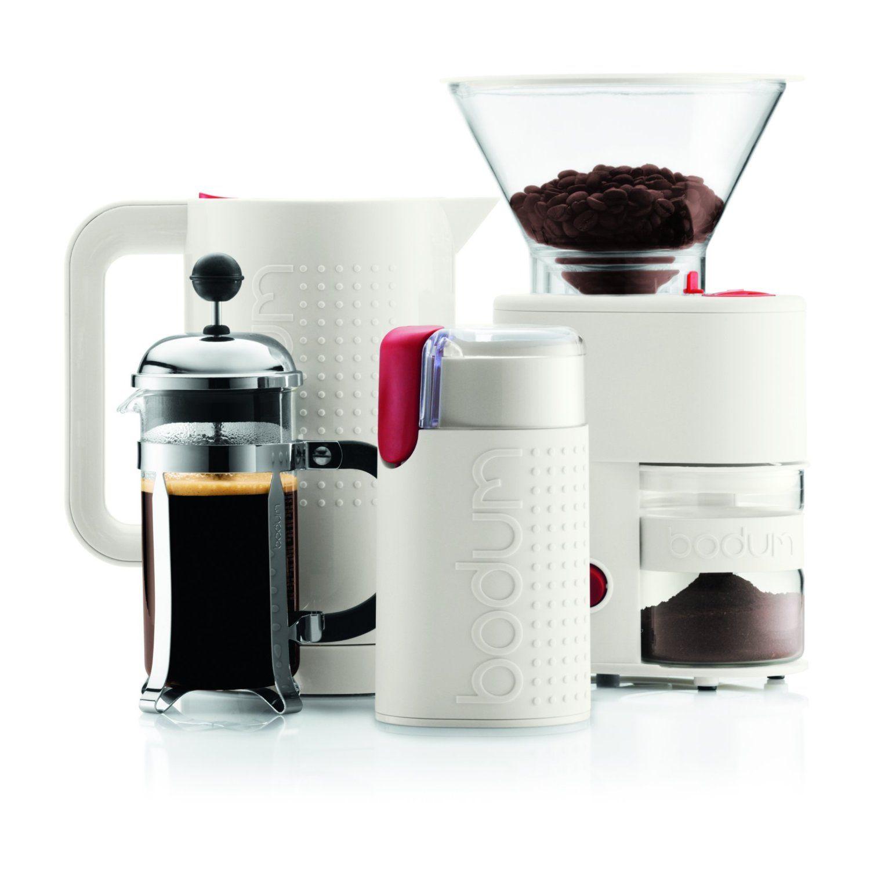 Bodum Bistro Electric Burr Coffee Grinder, White