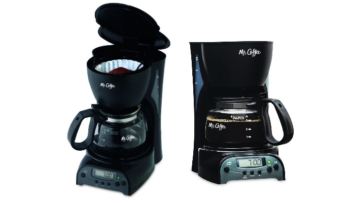 Mr. Coffee DRX5 4-Cup Programmable Coffeemaker, Black